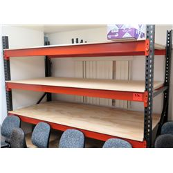 Adjustable 3 Metal Orange Gray Shelving Unit Shelf