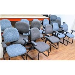 Qty Approx 12 Office Desk Chairs w/ Arm Rests