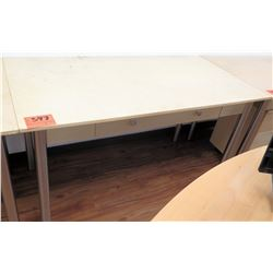 Metal-Based Laminate Shop Office Wooden Table