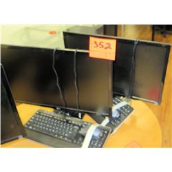 Qty 2 LG Computer Monitors & Keyboards Sets