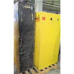 Yellow Metal Storage Cabinet for Flammable Storage & Tall Metal Unit