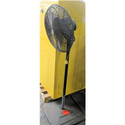 Tall Metal Shop Fan w/ Square Metal Base