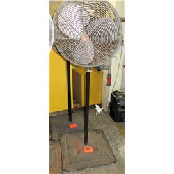 Tall Metal Dayton Shop Fan w/ Square Metal Base
