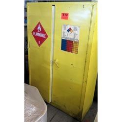 Yellow Metal Storage Cabinet for Flammable Storage