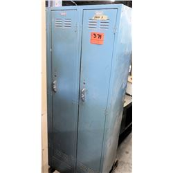 Metal Storage Standing Unit w/ 2 Individual Lockers