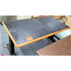 Work Shop Table w/ Metal Legs & Pressed Wood & Black Table Tops