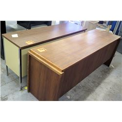 Qty 2 Metal & Wood Office Desks
