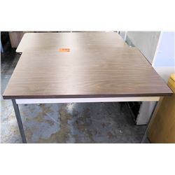 Qty 2 Metal & Pressed Wood Shop Tables