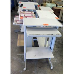Qty 5 Wheeled Rolling Standing Drafting Tables Desks