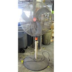 Tall Metal Dayton Electric Shop Fan w/ Round Metal Base
