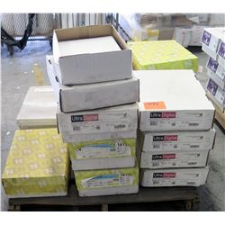 Qty 1 Pallet Misc Neenah & Ultra Digital Open Cases Reams Paper