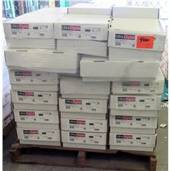 Qty 1 Pallet Ultra Digital 1508 White Dull Cover 18 x 12 Paper 400 Sheets
