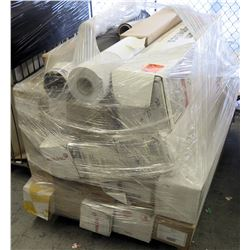 Qty 1 Pallet Misc Paper Cases & Rolls - Neenah, Mactac, Magnum Magnetics
