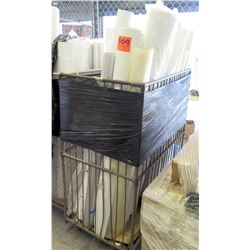 Qty 1 Metal Crate w/ Misc Rolled Paper Rolls - Texting, etc