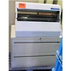 Xyron 2500 Adhesive Application & Laminating System w/ Lateral File Cabinet