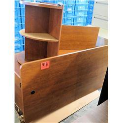 Desk Top Wooden Accessories - Corner Shelf, Shelving, Hutch, Divider