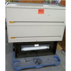 Metal 2 Drawer Lateral Legal File Cabinet w/ Black Light