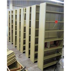 Qty 8 Tall Metal Adjustable Shop Shelves Shelving Units