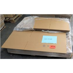 Qty 1 Short Pallet Uline 28 x 17 x 5 Corrugated Shipping Boxes