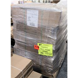Qty 1 Pallet Hagadone 91825 Corrugated Shipping Boxes Printed