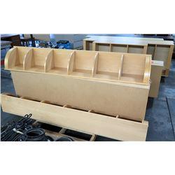 Multiple Light Wood Corner Shelves, Shelving Units, Book Cases