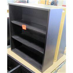 Qty 2 Short Black Wood 3 Shelf Adjustable Book Case Shelving Unit