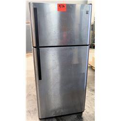 Kenmore Full Size Silver Colored Refrigerator Freezer Upright Unit Fridge