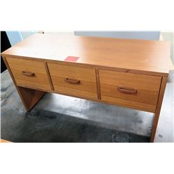 Wooden Rectangle Table w/ 3 Drawers Files Cabinet
