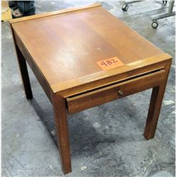 Wooden Square End Table w/ 1 Drawer Underneath