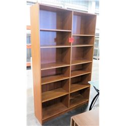 Two Sided Tall Book Display Case w/ 12 Adjustable Shelves