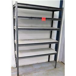Metal 5 Tier Shop Work Shelf w/ White Shelves