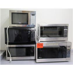 Qty 5 Microwave Ovens - Panasonic, Sunbeam, Sharp, etc
