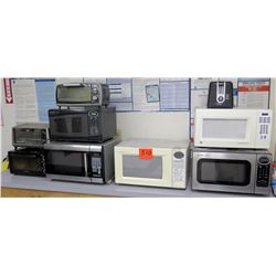 Qty 8 Microwave Ovens - GE, Cuisinart, Sharp, etc & Toaster