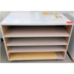 Short 4 Tier Paper Storage Cabinet