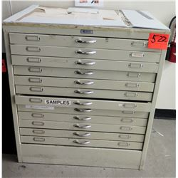 Foster 12 Drawer Blueprint Document File Cabinet