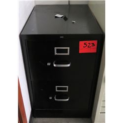 Metal 2 Drawer Standard  Black File Cabinet
