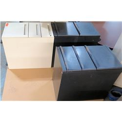 Qty 3 Short Vertical 3 Drawer File Cabinets