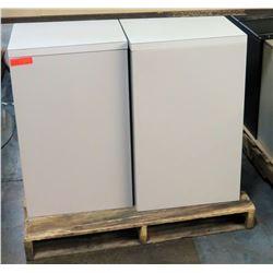 Qty 2 Short Sliding Door Cabinets