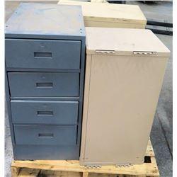 Qty 2 Short 4 Drawer Storage Cabinets