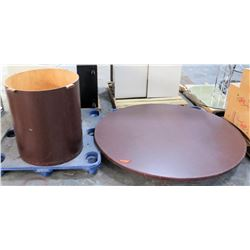 2 Piece Round Wooden Table w/ Base