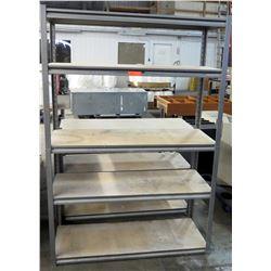 Metal 4 Shelf Shop Warehouse Shelving Unit