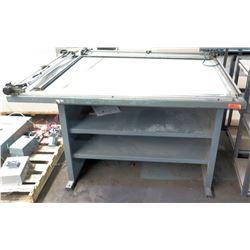 Metal Drafting Table w/ Shelves