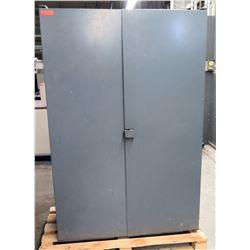 Tall 2 Metal Door 4 Shelf Cabinet
