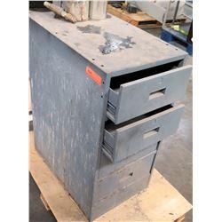 Short Metal 4 Drawer Storage Cabinet