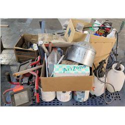 Pallet Misc Parts & Tools - Paint, Funnel, Lights, etc