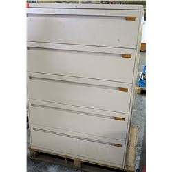Lateral Legal 5 Drawer File Cabinet