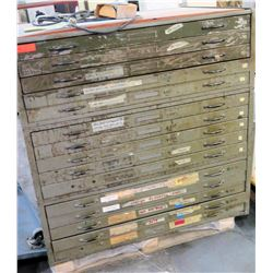 15 Drawer Document Blueprint Filing Cabinet