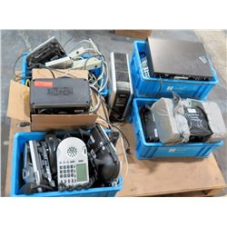 Multiple Misc Bins - Tripp Lites, Phones, Cords, etc