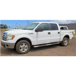 2009 Ford F150 Pickup Truck, Lic. 359TTC, VIN 1FTPW14V29KB89664