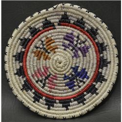 PAIUTE INDIAN BASKETRY PLAQUE (ROSE ANN WHISKERS)